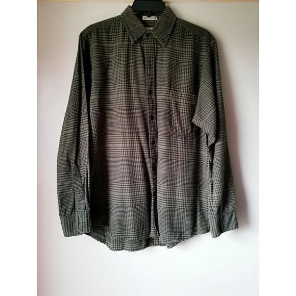 RVCA Boys Big High Plains Long Sleeve Plaid Woven Button Up Shirt